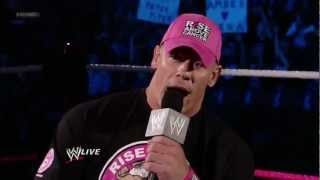 John Cena answers questions about the rumors of an affair with AJ Lee: Hell in a Cell 2012 Pre Show
