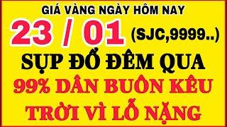 Giá vàng hôm nay 9999 ngày 23/1 | GIÁ VÀNG MỚI NHẤT || Bảng Giá Vàng SJC 9999 24K 18K 14K 10K