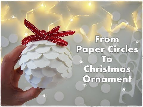 Artichoke DIY Christmas Ornament from Paper Circles ♡ Maremi's Small Art ♡