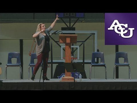 ACU Chapel with Amy Sheasby; October 31, 2016