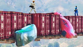 HIT THE FLOATING BASE! (GTA 5 Funny Moments)