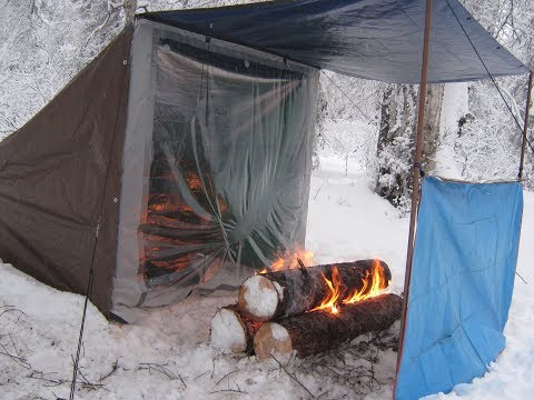 92 Degrees In A Campfire Heated Tent