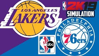 Lakers vs 76ers - NBA on ABC - NBA 2K19 (Full Game)
