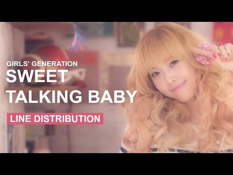 Girls' Generation - 뻔&Fun (Sweet Talking Baby) - Line Distribution