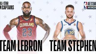 NBA All-Star Starters 2018 Revealed! LeBron James Stephen Curry Captains! 2017-18 Season