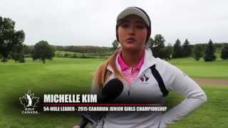 2015 Canadian Junior Girls Championship - Michelle Kim post-round interview - Round 3