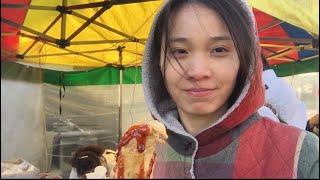 Cuộc sống ở Hàn Quốc:|Tập 65| Đi chợ mua đồ ăn giữa trời âm 8 độ. 영하 8도에 시장 보러 가기.