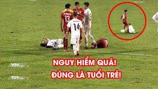 Kinh hoàng cầu thủ trẻ Lào dùng gầm giày ''phang'' đối thủ tại Giải U18 Đông Nam Á | NEXT SPORTS