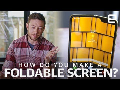 How did Samsung and Huawei make those foldable screens?   Upscaled
