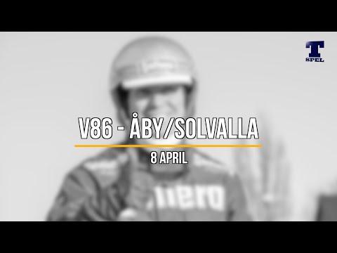 V86 tips jackpott! Solvalla/Åby 8 april