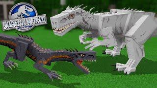 INDORAPTOR Vs INDOMINUS REX!!! - Jurassic World Minecraft DLC   Ep5