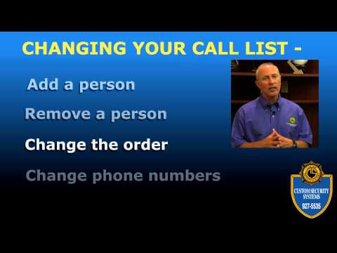 Custom Security Systems_Your Emergency Call List