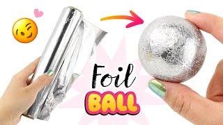 SAFE & EASY Japanese Foil Ball DIY!! NO Hammer, NO Sandpaper! How To Make Foil Ball Viral DIY