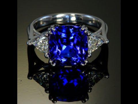 Tanzanite Ring in 18 Karat White Gold 6.47 Carats
