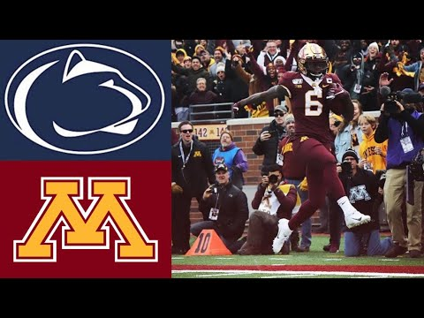 #4 Penn State vs #17 Minnesota Highlights | NCAAF Week 11 | College Football Highlights
