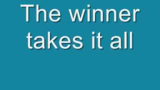ABBA - The Winner Takes it All Lyrics