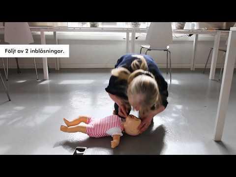 Så här gör du hjärt-lungräddning på en bebis (under 1 år)