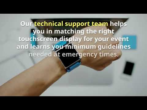 Interactive touch screen on rent for all events in Dubai