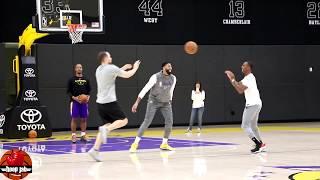 Anthony Davis vs Rajon Rondo 1 on 1 Game. Lakers Practice. HoopJab NBA