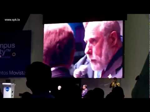 Al Gore, Vint Cerf y Tim Berners-Lee (Campus Party Mexico 2011)
