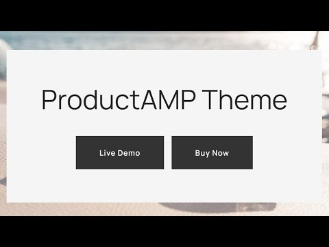 HTML Shop Template | ProductAMP