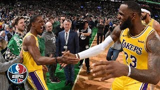 Rajon Rondo's buzzer-beater, LeBron's triple-double lift Lakers past Celtics | NBA Highlights
