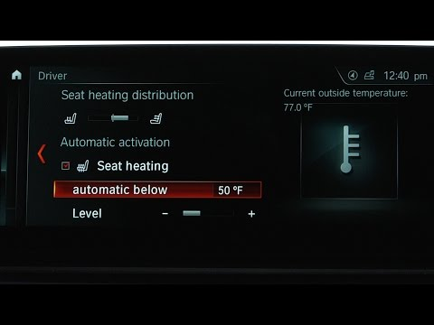 How To Activate Automatic Seat Heating Or Ventilation
