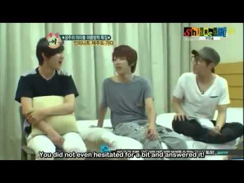 [ENG SUB] 120815 Weekly Idol Infinite part 1 (Jeju Island)
