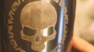 How to: Electro etch my logo into a stainless mug