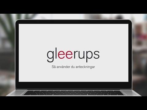 Så använder du anteckningar i Gleerups digitala läromedel