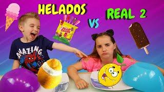 HELADOS VS REALIDAD 2 // ICE CREAM VS REAL FOOD CHALLENGE * Las Cosas de Lucía