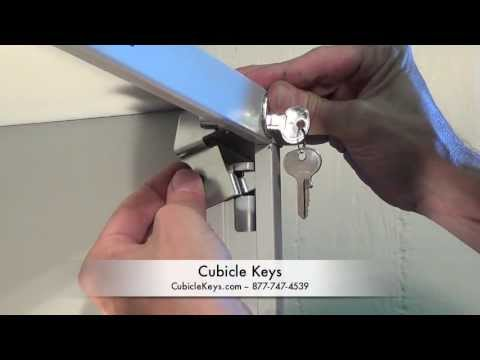 HON F26 Vertical File Cabinet Lock Kit Install