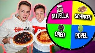 GLÜCKSRAD PIZZA CHALLENGE! (1 Spin = 1 Zutat) | Max und Chris