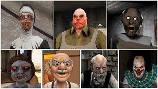 Escape Endings   Granny*Evil Nun*Mr.Meat*Dread Teacher*IT Clown*Erich Sann*Grandpa And Granny