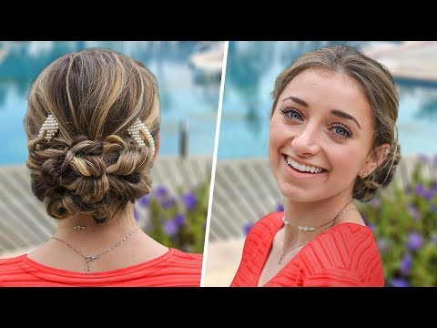Brooklyn's Easy PROM Hairstyles | Flipped Ponytail Updo