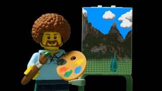 Lego Bob Ross. Joy of Building.