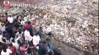 Janasena chief pawankalyan visits dumping yard in bhimavaram | pawan kalyan craze in bhimavaram