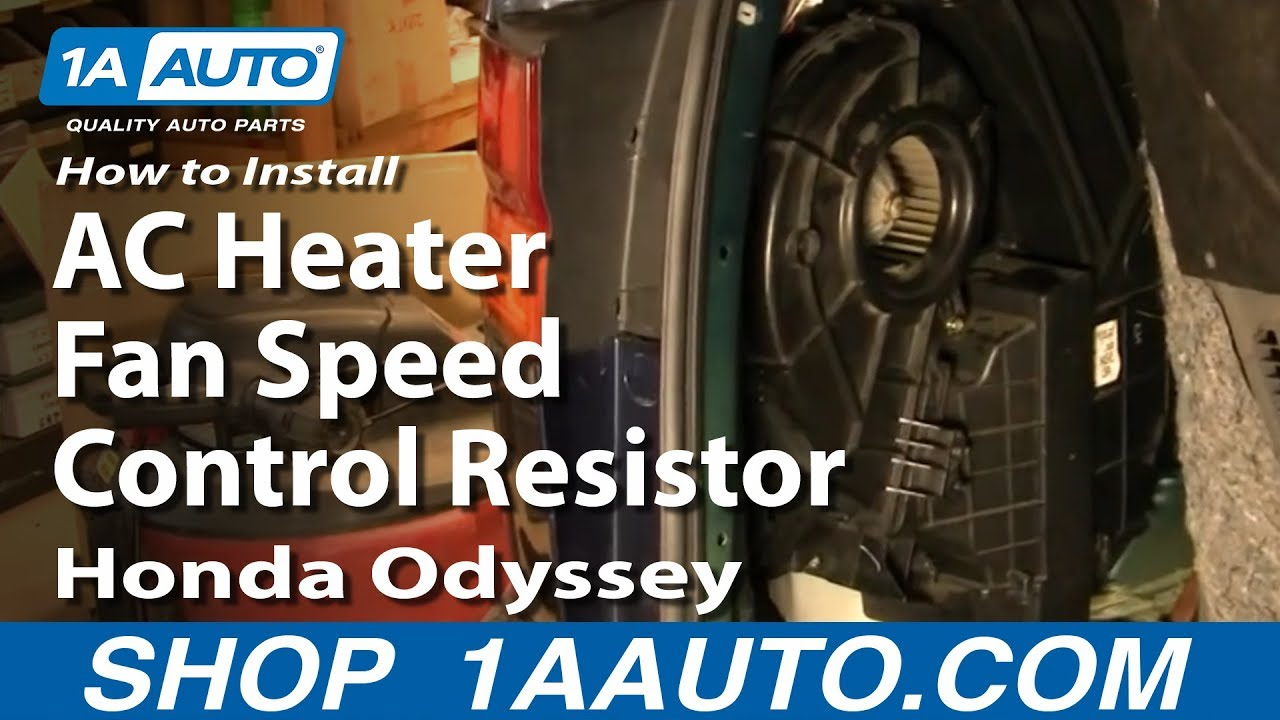 How To Install Replace Rear Ac Heater Fan Speed Control