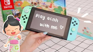 UNBOXING   animal crossing nintendo switch + play with me! 🏝️