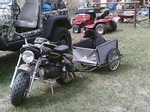 Coleman CT2000EX Mini-Bike and Aosom Trailer
