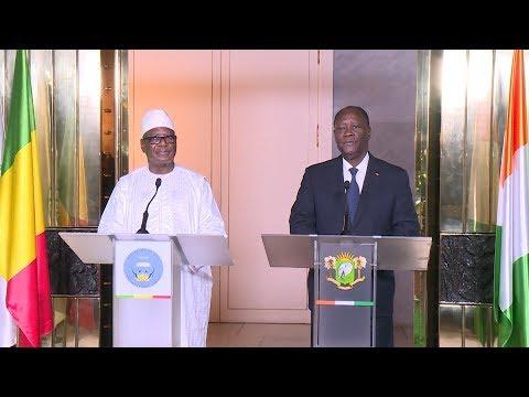 Déclaration conjointe des Présidents Alassane OUATTARA et Ibrahim Boubacar KEITA
