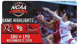 NCAA 94 MB Finals: SBU vs. LPU | Game Highlights | November 12, 2018