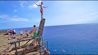 INSANE HAWAII CLIFF JUMPING!! *BEST DAY EVER*