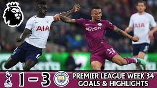 TOTTENHAM 1 - 3 MANCHESTER CITY HIGHLIGHTS (JESUS, ERIKSEN, STERLING) PREMIER LEAGUE REVIEW & GOALS