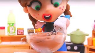 CHEF ANNA ❤ Frozen Elsa & Superhero Play Doh Cartoons & Stop Motion Movies For Kids