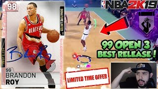 NBA 2K19 LIMITED PINK DIAMOND BRANDON ROY GAMEPLAY IN MYTEAM! 99 OPEN 3 AND BEST RELEASE IN 2K