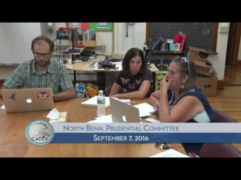 North Bennington Prudential Committee - 9/7/16