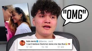 FaZe Jarvis Reacts To Sommer Ray and Tayler Holder Dating.. (He Cried)