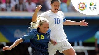 Bóng đá nữ tứ kết: Mỹ - Thụy Điển