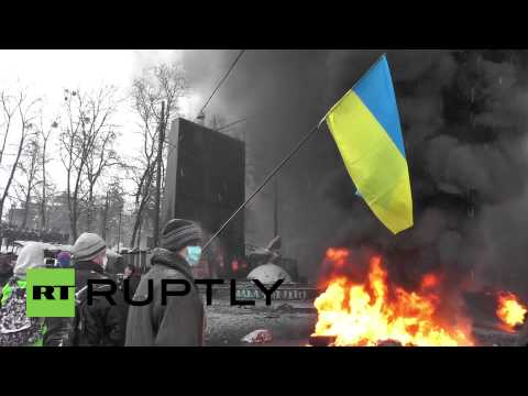 Violence continues to flare in Kiev